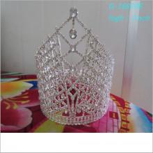 Atacado Fashion pearl grande representação coroas completa alta tiara personalizada