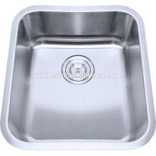 A barra pequena de aço inoxidável de 304 18/8 afunda a pia de cozinha dos dissipadores da preparação