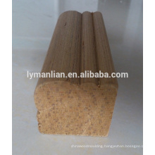 recon carved wood mouldings for construction,decoration/angular line/quad wood moulding