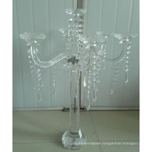 Crystal Candle Holder for Wedding Decoration with Seven Posters