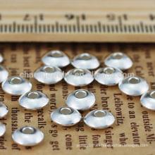 2014 accesorios de la joyería de la manera DIY La plata esterlina brillante rebordea UFO formó SEF012