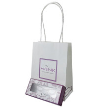 Customized embossed paper bag with handle