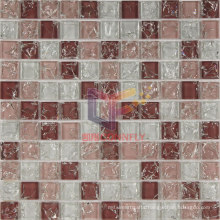 Pink Crystal Cracked Glass Mosaic Tile (CC160)