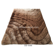 Tappeto di design in poliestere Silk Shaggy 3D