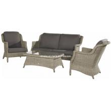 Открытый лаундж диван набор из ротанга патио плетеная мебель сада
