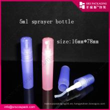 China Nueva botella de perfume plástica caliente de la venta del estilo, botella del aerosol 10ml