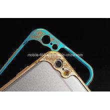 Durable Metal Bumper Case para iPhone 6 con protector de cámara