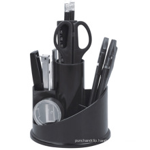 Plastic Desk Rotation Stationery Organizer in Black Color407