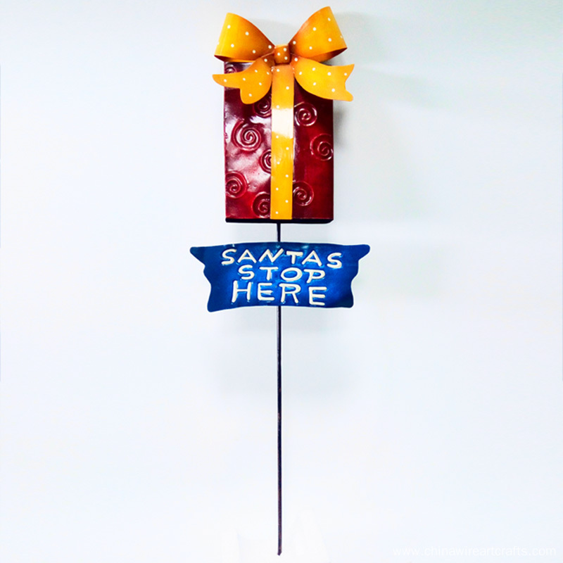 Christmas Letter Display Metal Stake
