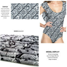 Fancy Printing Knit/ Jersey Fabric for Swimwear, Sportwear, Dress