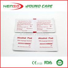 HENSO Almohadillas Estériles de Alcohol Isopropílico Desechables