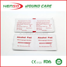 Almofadas de álcool isopropílico estéril descartáveis de HENSO