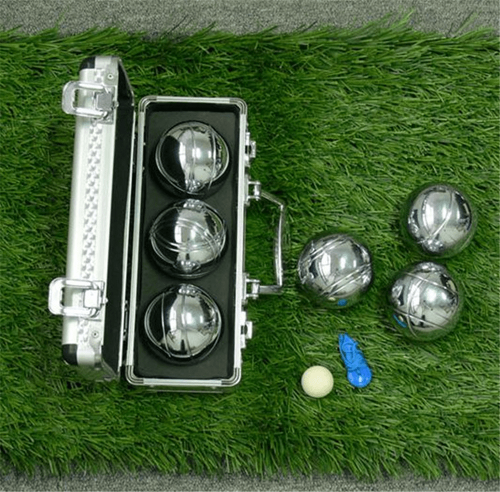 3 chrome bocce ball