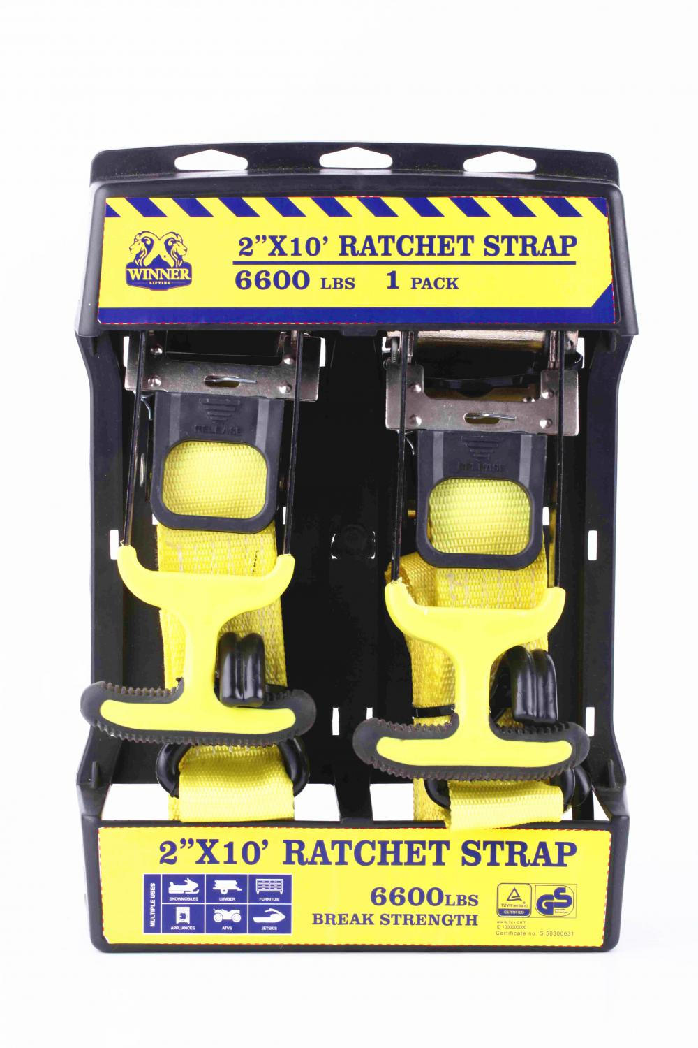 Gs Approved 2 X10 Ratchet Lashing Belt Kit With Soft
