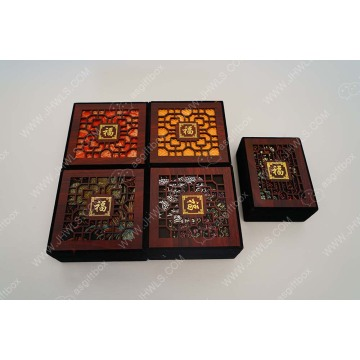 Square hollow hollowed jewelry box