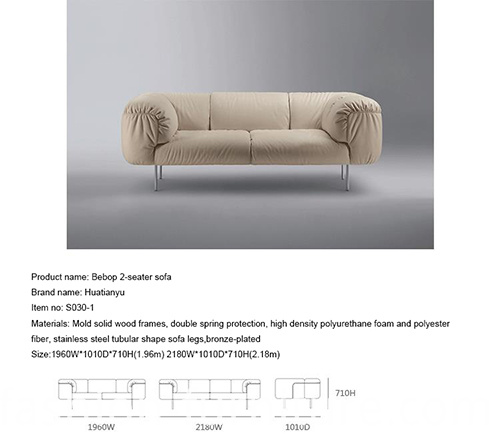Upholstered Loveseat Sofa