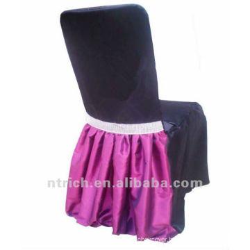 elegant taffeta/satin chair skirt,chair attachment for wedding banquet