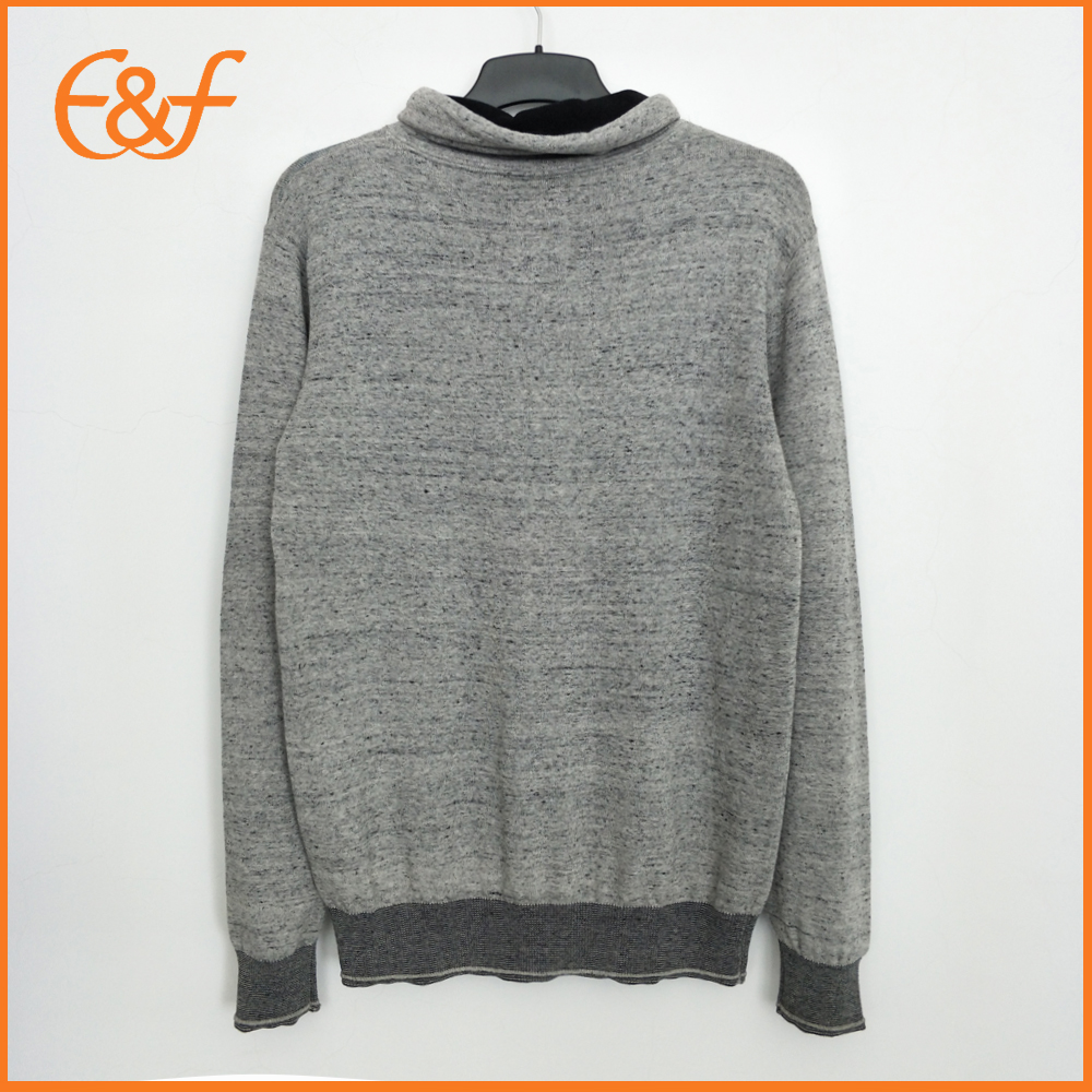 Young Mens Fashion Knitwear Grey Turtle Neck Jumper