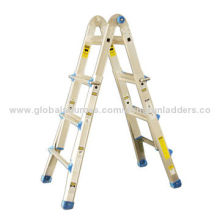 Aluminum Ladder, Multifunction, Professional Model, 4x3 Steps with Strong and Patented Hinge