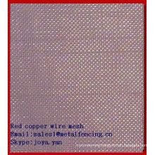 Red copper wire mesh