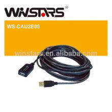 Cabo de extensão Active USB 2.0, cabo de extensão usb de 480Mbps até 20M