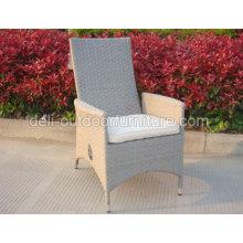 Fonction extérieure en osier armature en métal chaise UV gaz réglage