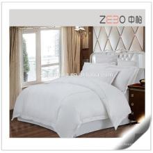 Sateen Linen Hotel Collection Capa de edredão de cama Folha de almofada de cama