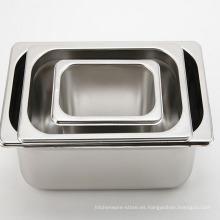 Cacerolas de la porción del envase de comida regular del acero inoxidable cacerola de GN de la fuente del hotel
