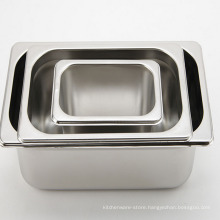 Stainless Steel Regular Food Container Serving Pans Hotel Supply GN Pan