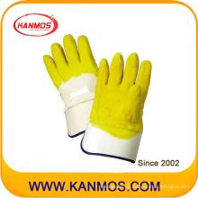 Industriesicherheit Gelb Latex beschichtet Carvin Cuff Arbeitshandschuh (52002)
