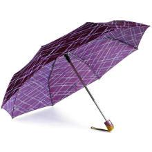 Parapluies duomatiques coupe-vent compacts rainurés (YS-3FD33083972R)