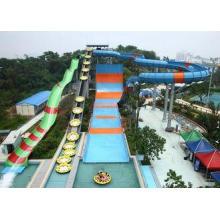 Super Boomerang Summer Slide Water Park / In An Amusement P