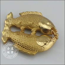 3D Pisces Gold Craft, Fish House Decoration (GZHY-HD-079)