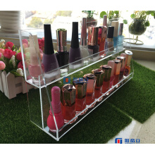 Vente en gros Custom Black Acrylic Nailpolish Organizer with Logo