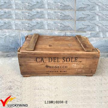 Reclaimed Handmade Storage Vintage Brown Wooden Chest Box