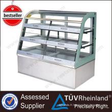 Vitrine de réfrigérateur de boulangerie de restaurant d'équipement commercial Vitrine de réfrigérateur de boulangerie