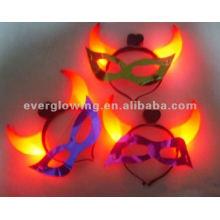 máscaras de cuerno de resplandor venta caliente led resplandor máscara iluminar máscara