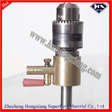 Straight Shank Water Swivel with Glass Drill Bit