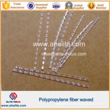 Fibre agitée de polypropylène de renforcement concret