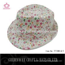 Sombreros por encargo de Fedora del poliester para las muchachas