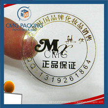 Customized Golden Adhesive Sticker Labels