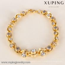 71604 Xuping Fashion Woman Bracelet com banhado a ouro