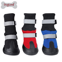China supplier wholesale Reflecting Waterproof Pet Snow Boots
