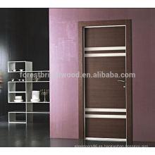 Popular puerta de madera rasante con ranuras