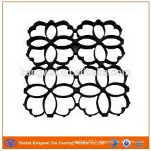 Haute pression en aluminium moulé sous pression clôture fleur avec noir E-Revêtement finition