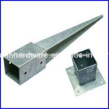 Galvanisierter Stahl Drop-in Pole Anchor, Boden Anker zum Verkauf