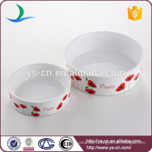 Manufacturer's promotion decal ceramic products of pet bowl