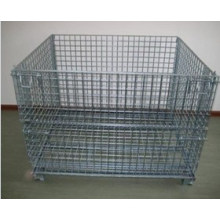 Wire Mesh Container with Galvanized Steel Cage