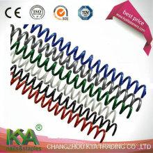 Encadernação em espiral de bobina de arame de plástico