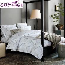 2017 Amazon Venda Quente de algodão estilo sarja reativa impressão conjunto de cama